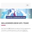 Referenz GPC: Startseite: Ansicht auf einem Smartphone