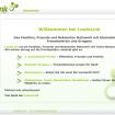 Screenshot LeuteLink - ein soziales Netzwerk / Startseite